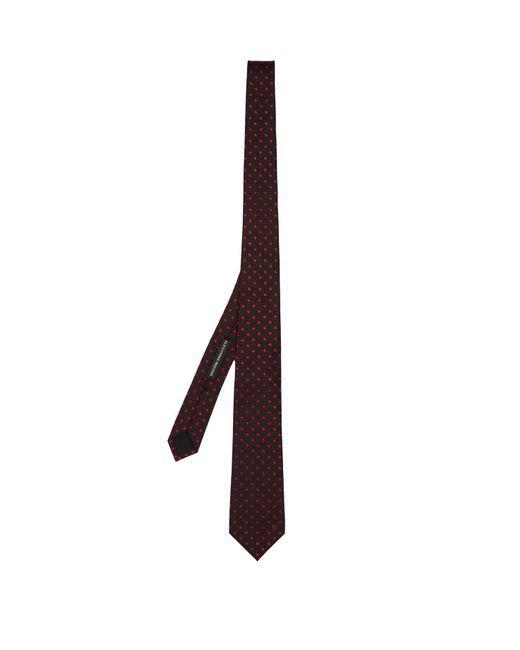 Alexander McQueen - Blue Polka-dot Embroidered Silk Tie for Men - Lyst