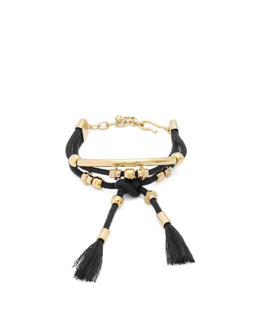 Chloé   Black Otis Layered Cord Bracelet   Lyst