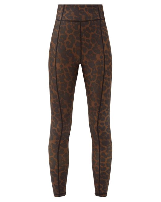 The Upside Brown Leopard-print Stretch-jersey Leggings