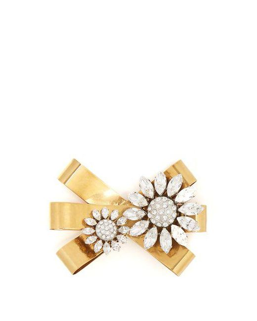 Miu Miu Faux-pearl embellished bow brooch dlX55oMoQ