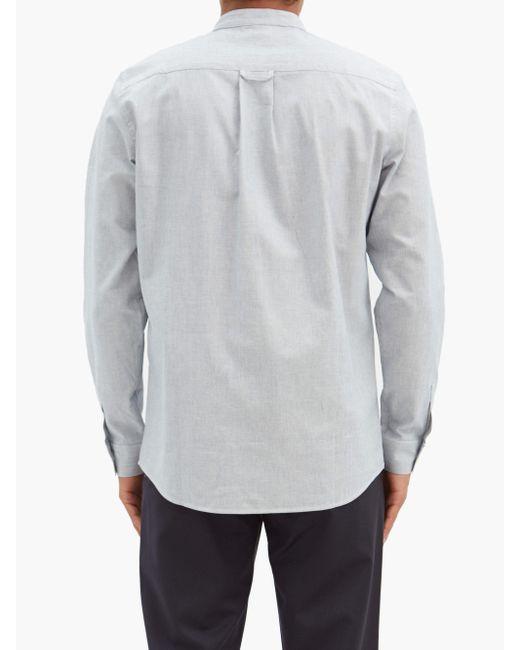 メンズ A.P.C. マーク ストライプ バンドカラーシャツ Multicolor