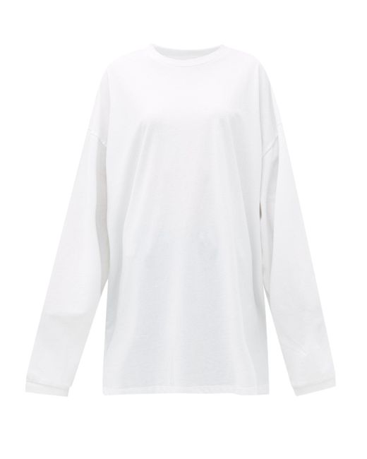 Raey オーバーサイズ リサイクルコットンブレンドtシャツ White