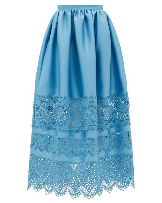 Erdem ジェニファー レーストリムスカート Blue