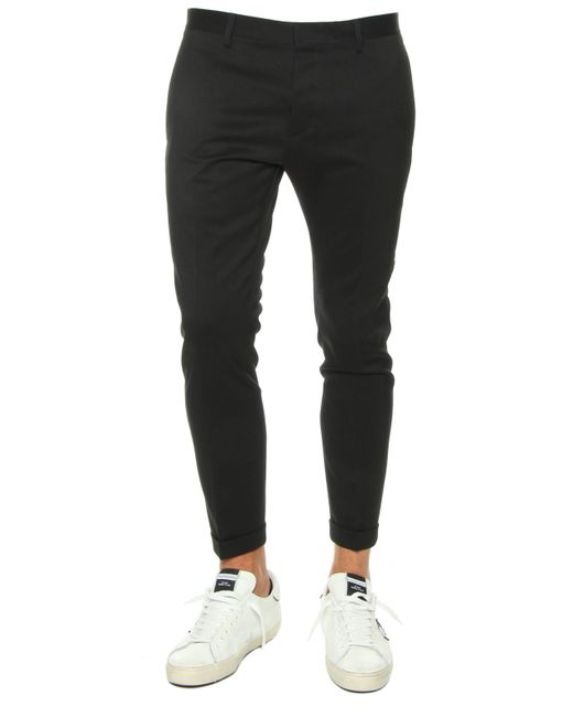 DSquared² | Blue Admiral Regular-fit Wool And Silk-blend Trousers for Men | Lyst
