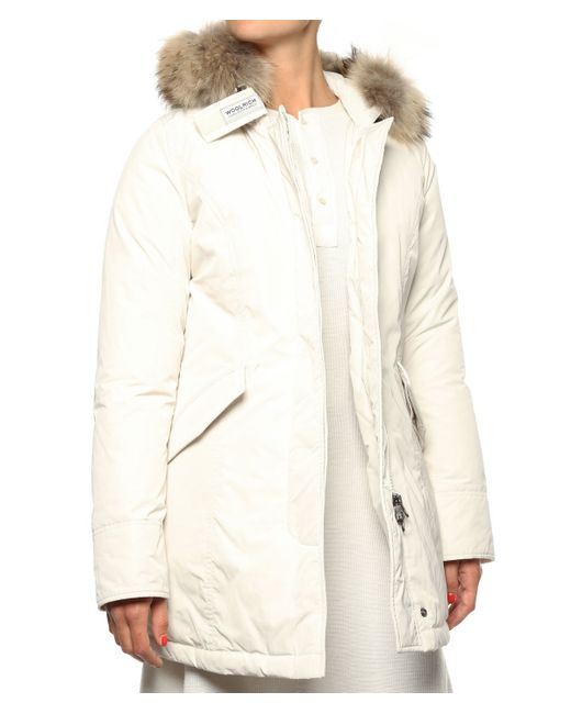 woolrich parka w 39 s luxury arctic parka in white lyst. Black Bedroom Furniture Sets. Home Design Ideas