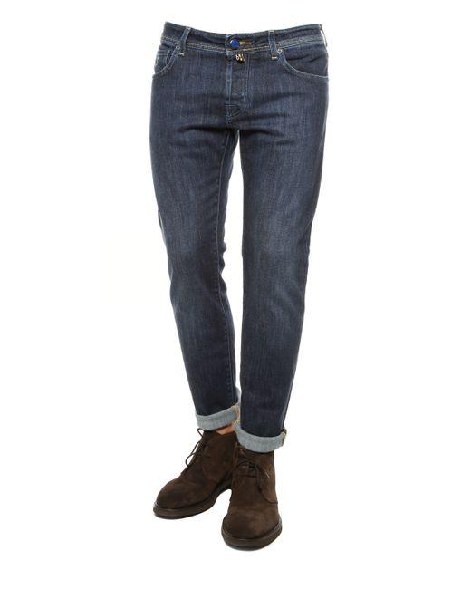 Jacob Cohen | Blue Handkerchief Detail Jean for Men | Lyst