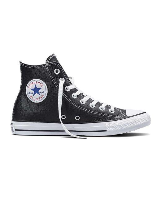 CHUCK TAYLOR ALL STAR HI LEATHER di Converse in Black da Uomo