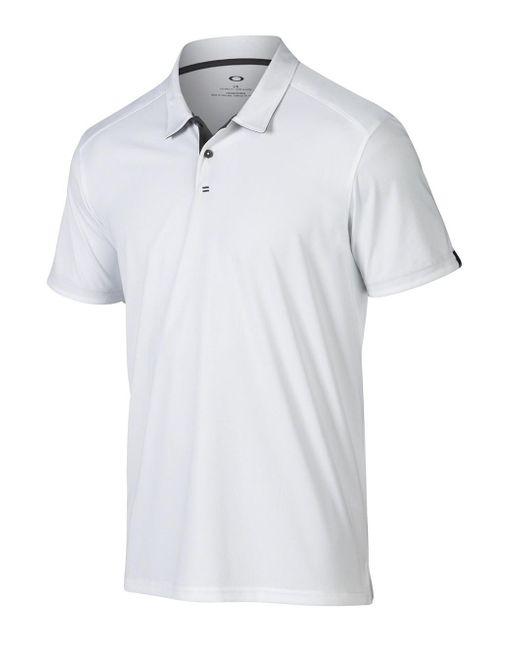 POLO DIVISIONAL di Oakley in White da Uomo