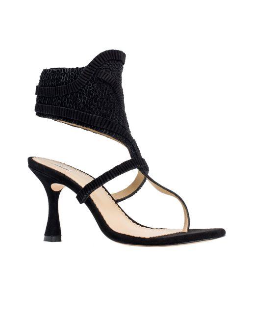 Leon Max | Black Well: Textured Suede Heels | Lyst