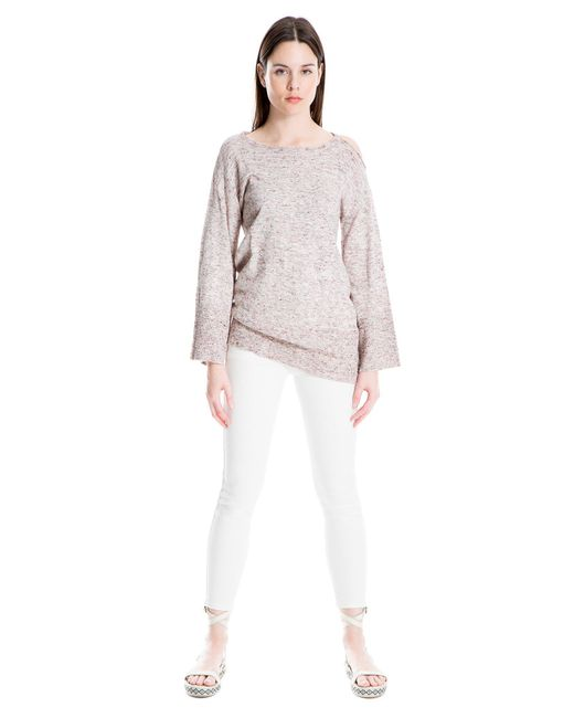 Leon Max - Multicolor Heathered Fine Gauge Knit Top - Lyst