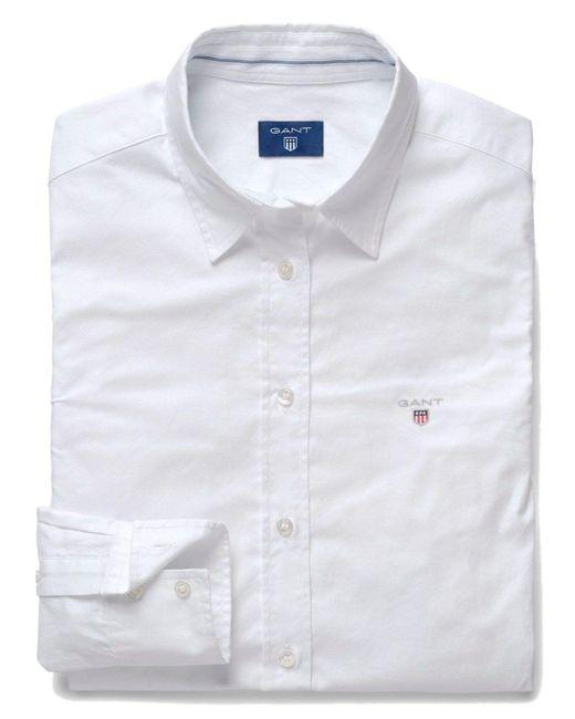 Gant White WEISS BAUMWOLLE SHIRT
