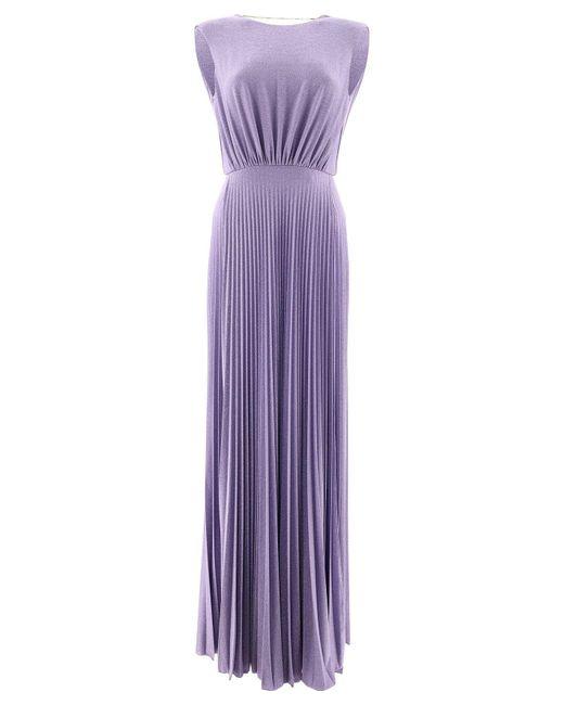 Elisabetta Franchi Purple ANDERE MATERIALIEN KLEID