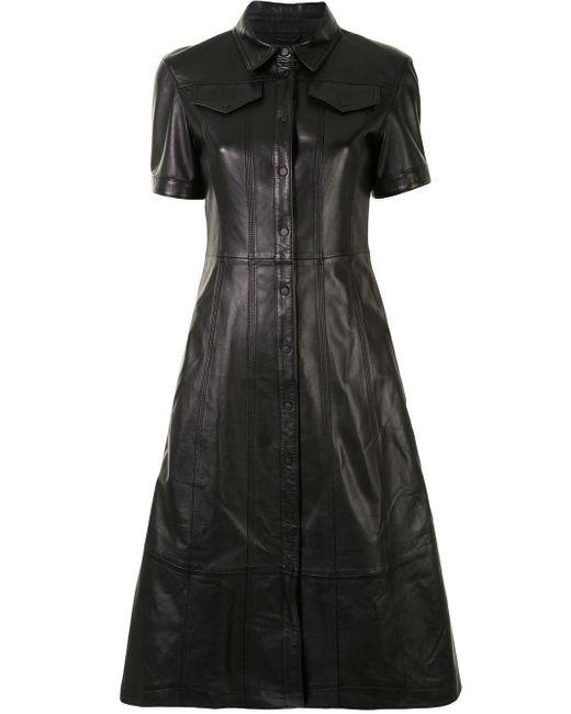 Proenza Schouler Women's Wl211315400200 Black Leather Dress