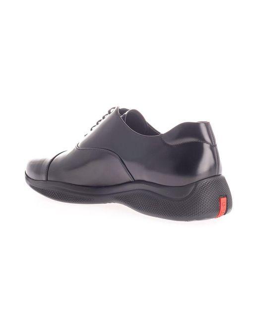 Prada Linea Rossa LEDER SNEAKERS in Black für Herren