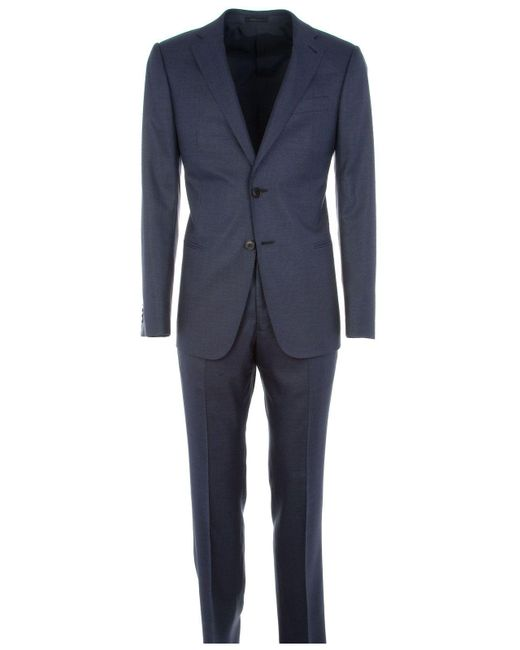 Armani Blue Wool Suit for men