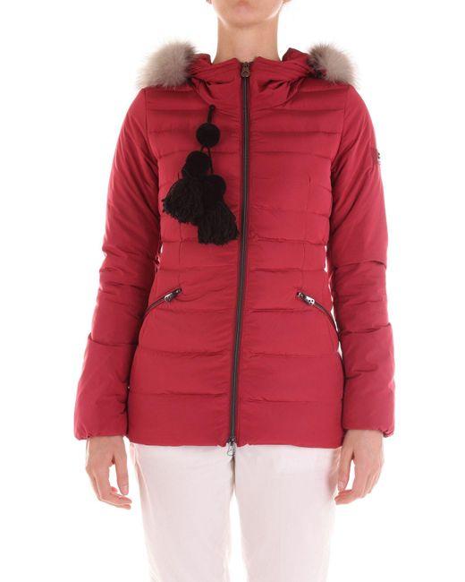 Peuterey Red Burgundy Polyamide Down Jacket