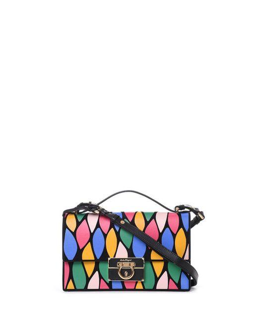 Ferragamo Multicolor Leather Shoulder Bag