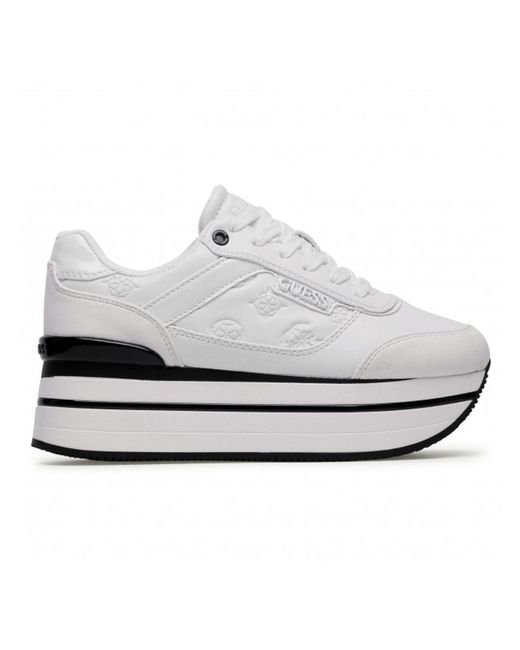 Guess White LEDER SNEAKERS