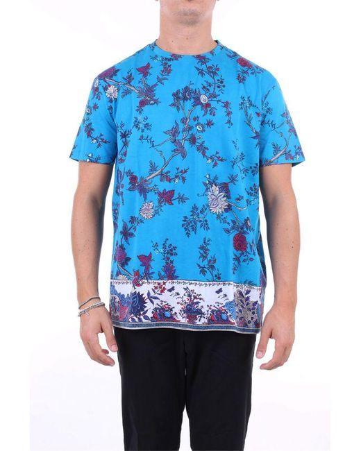 Etro T-shirt kurzarm herren in Blue für Herren