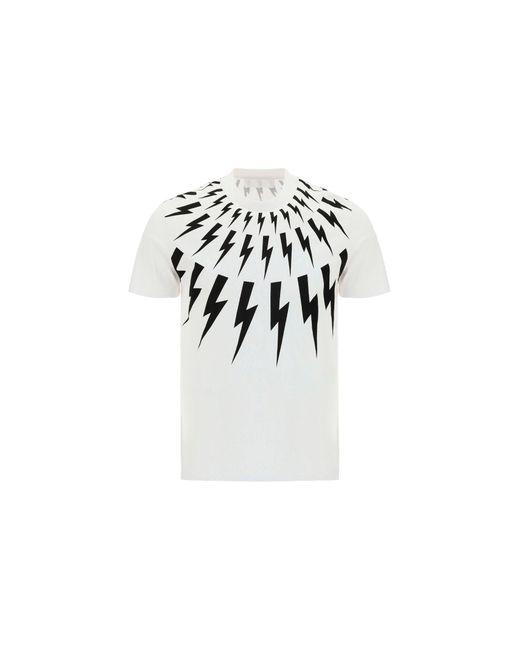 Neil Barrett White Other Materials T-shirt for men