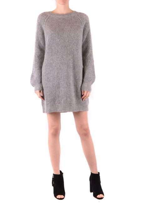 Twin Set Gray Grey Wool Dress