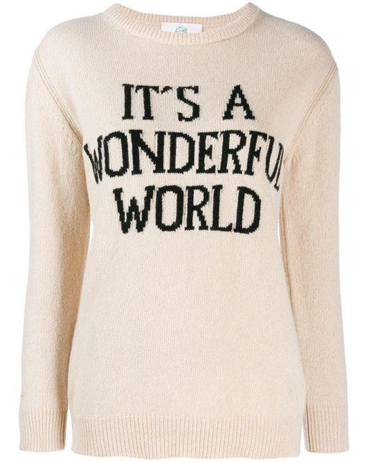 Alberta Ferretti Natural Beige Wool Sweater