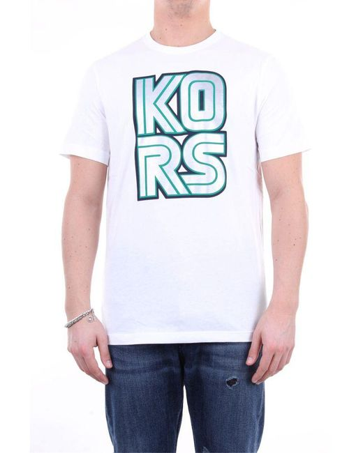Michael Kors T-shirt kurzarm herren in White für Herren