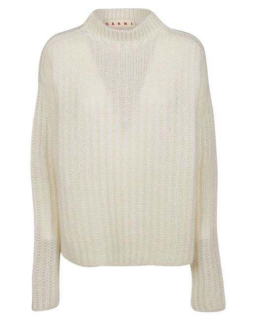Marni White Wool Sweater