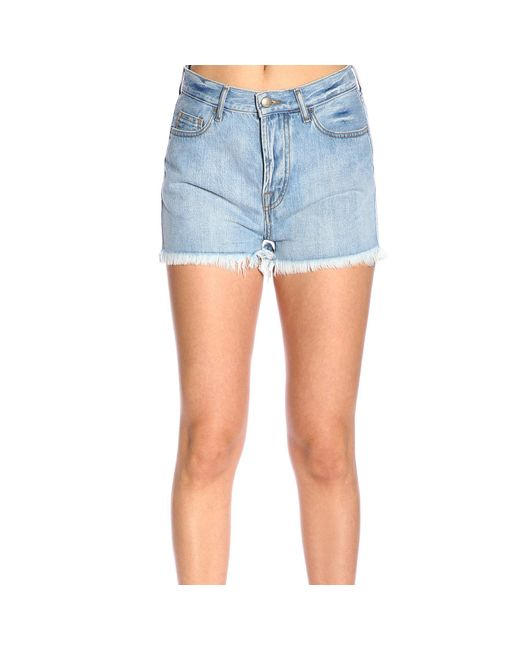 Roy Rogers Blue Polyester Shorts