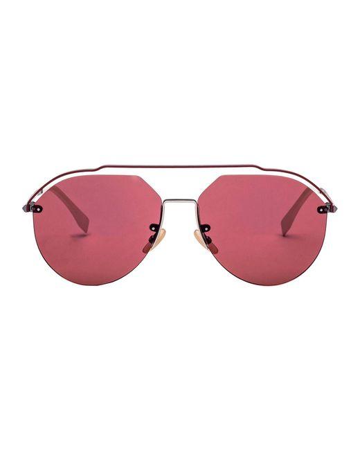 4cb792f38f Fendi - Multicolor Burgundy Metal Sunglasses for Men - Lyst