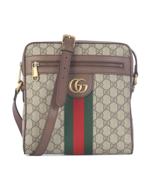 5d5365e3a Gucci Beige Leather Messenger Bag in Natural for Men - Lyst