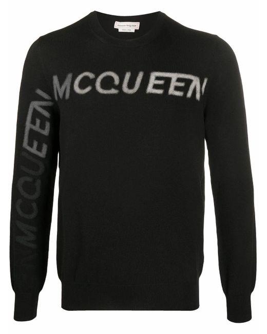 Alexander McQueen Black Wool Sweater for men