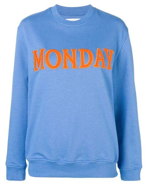 Alberta Ferretti Blue Cotton Sweatshirt