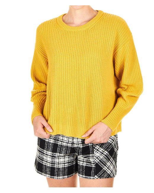 8pm Yellow Viscose Sweater