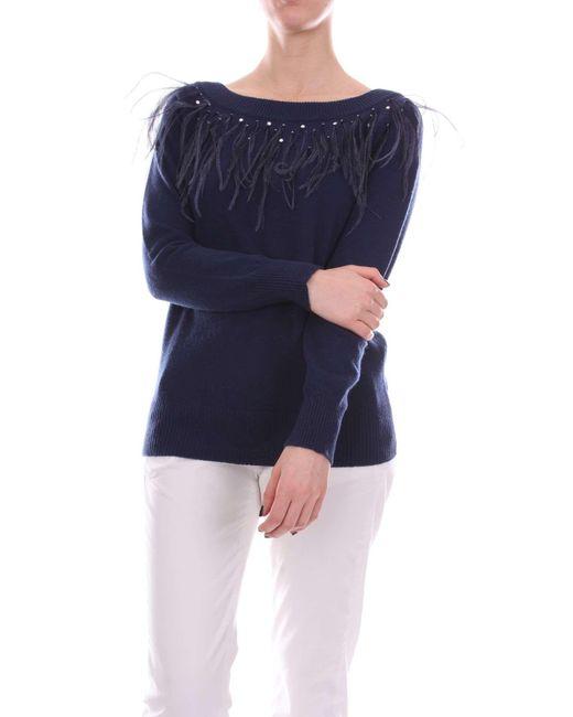 Blumarine Blue Wool Sweater