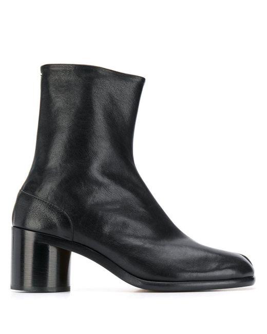Maison Margiela Black Tabi Block Heel Boots for men