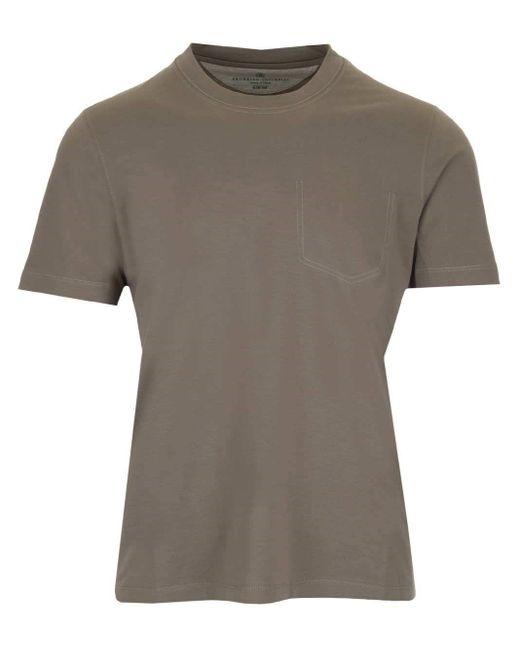 Brunello Cucinelli T-SHIRT in Gray für Herren