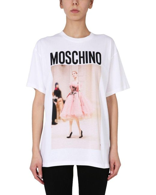 Moschino White ANDERE MATERIALIEN T-SHIRT