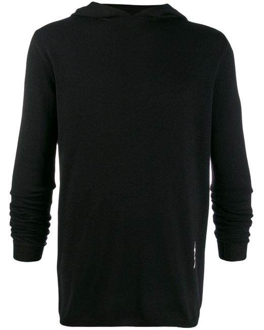 Rick Owens Black Wool Sweater for men
