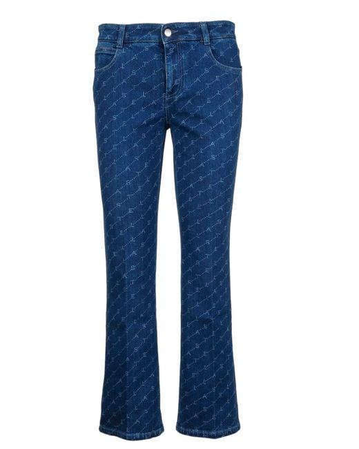 Stella McCartney Blue Cotton Jeans