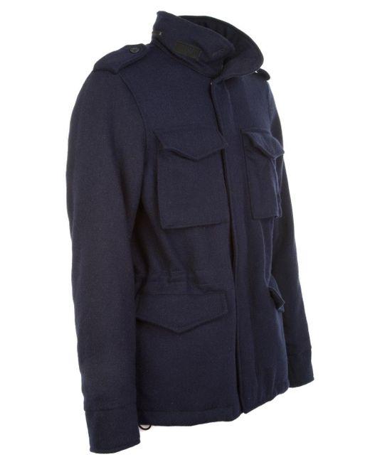 Aspesi Blue Wool Outerwear Jacket for men