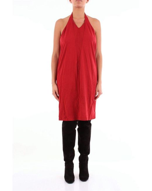 Rick Owens Red Cotton Dress