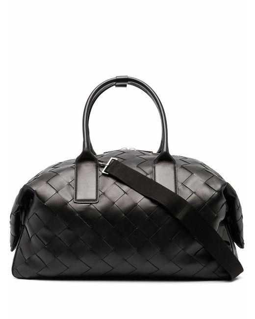 Bottega Veneta Black Leather Travel Bag for men