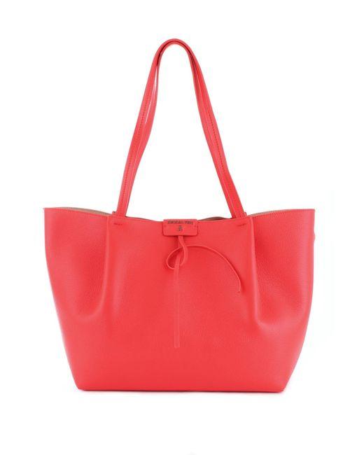 Patrizia Pepe Red Leather Tote