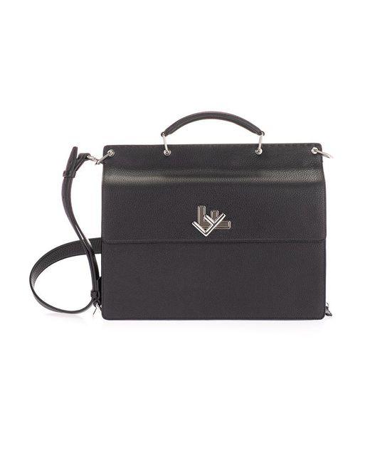 Fendi Handtasche mit Logo in Black für Herren