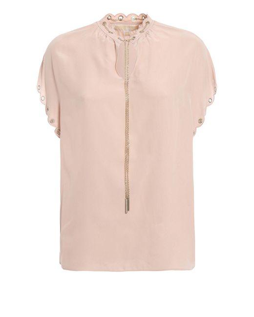 Michael Kors Pink Silk Blouse
