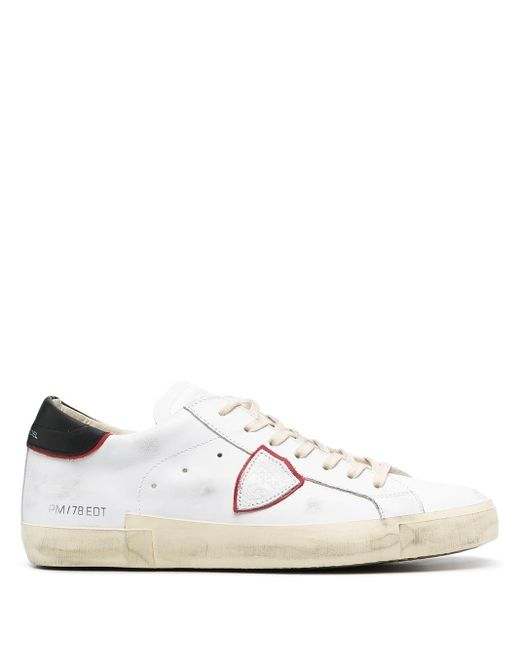 Philippe Model White Other Materials Sneakers for men