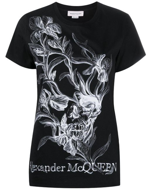 Alexander McQueen Black BAUMWOLLE T-SHIRT