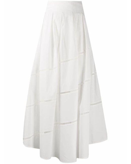 Brunello Cucinelli White Cotton Skirt