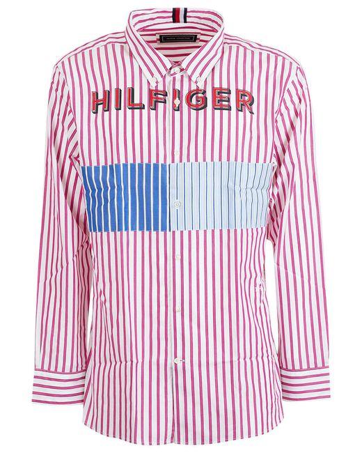 Tommy Hilfiger Pink Cotton Shirt for men